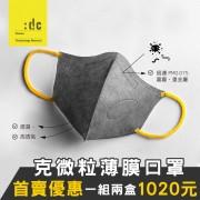 克微粒薄膜口罩商品圖(一組兩盒1020元)
