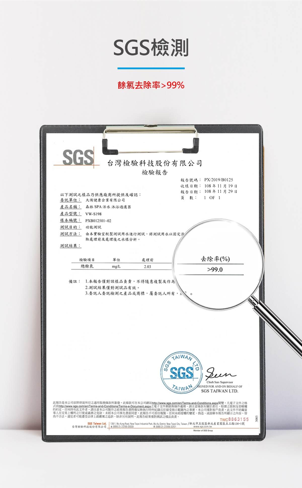 Vitaway-森林SPA沐浴過濾器-14-SGS檢測